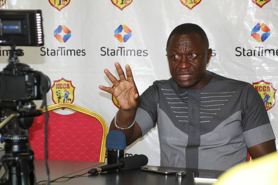 Mike Mutebi claims KCCA FC not reaching the group stages will be viewed as a failure. (PHOTO/File)