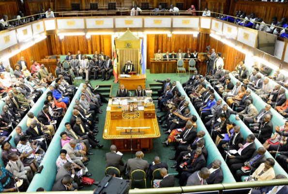 Legisltors in a plenary session recently, Parliament is seeking over UGX to pay MPs salaries. (FILE PHOTO)