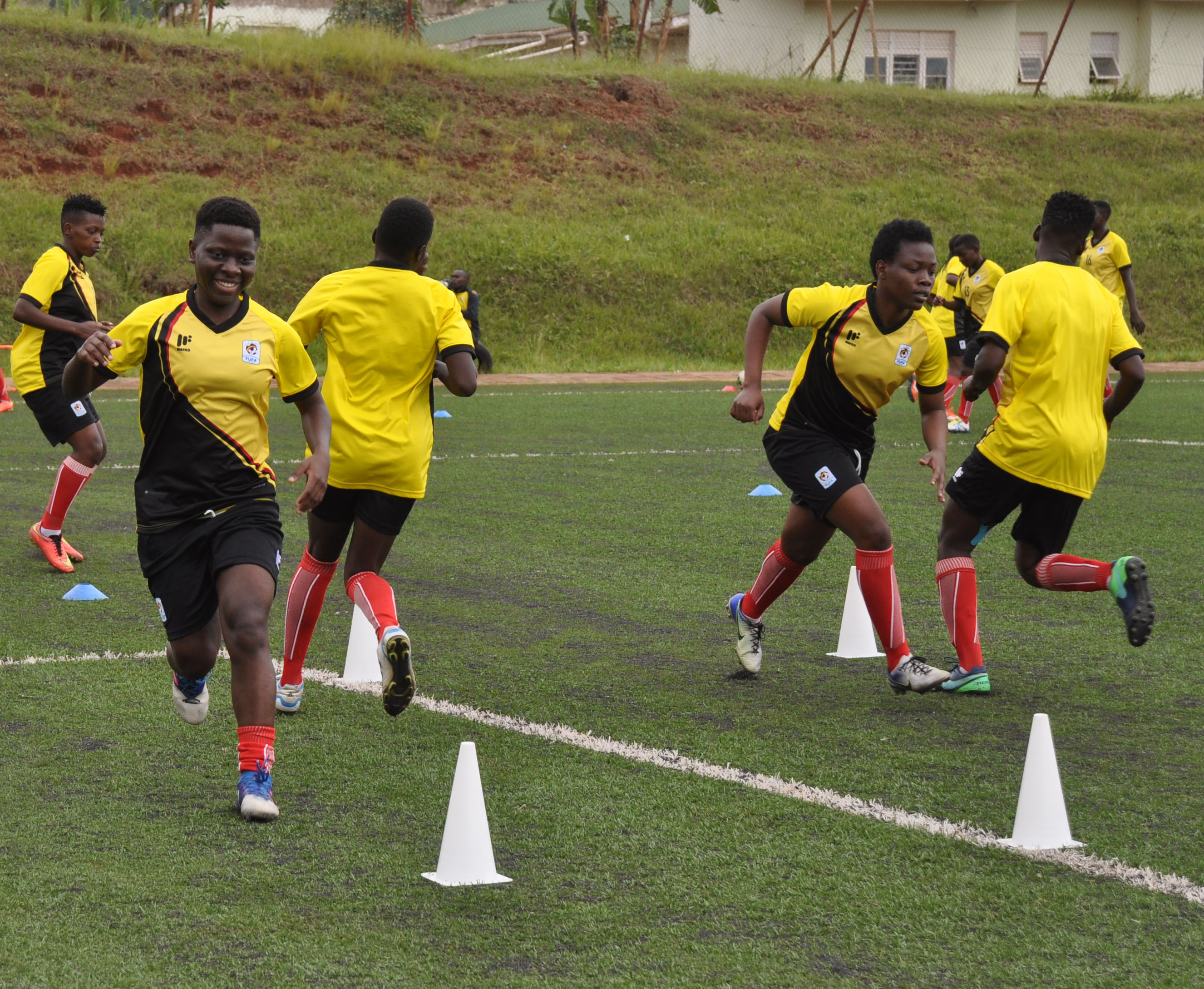 The Crested Cranes training earlier this week (file photo)