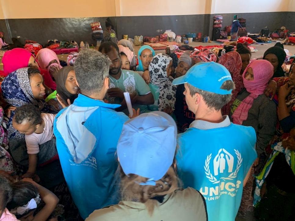 UNHCR officials