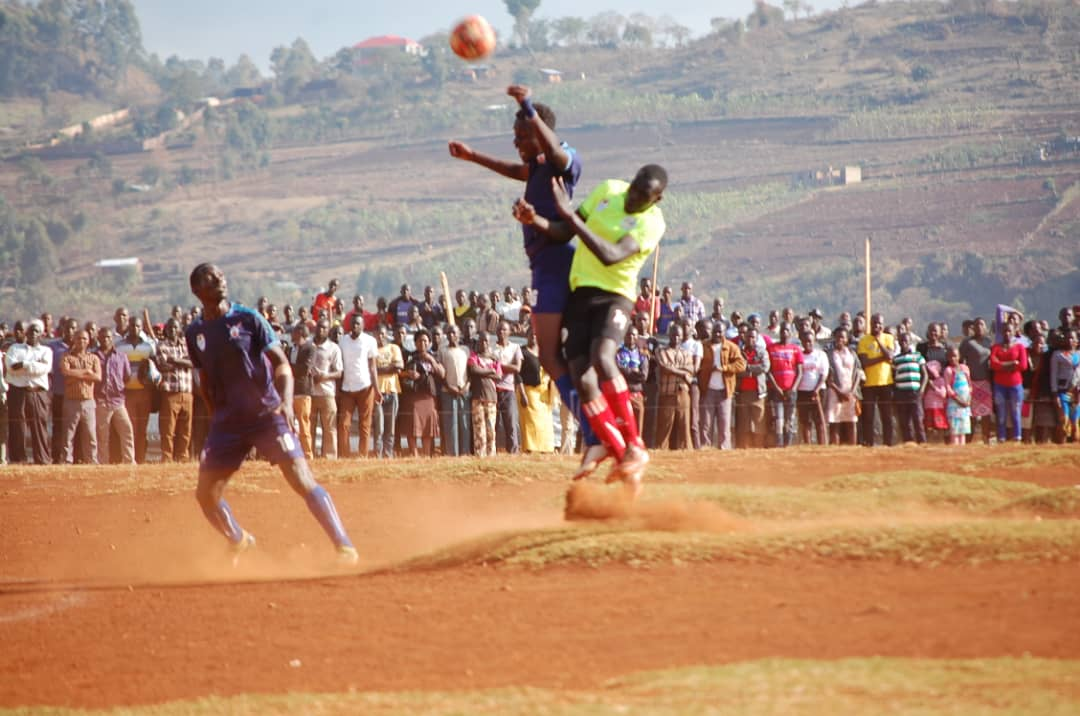 Bugand (in Blue) defeated Sebei (in Green) on Saturday. (FUFA Photos)