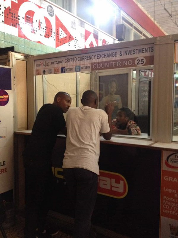 Bitcoin Teller at Uganda Post Office in Kampala. (PHOTO/File)