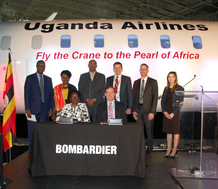 Signing Ceremony with Uganda Airlines at Mirabel Dignitaries from Uganda Airlines and Govt. met with the BCA team at Mirabel