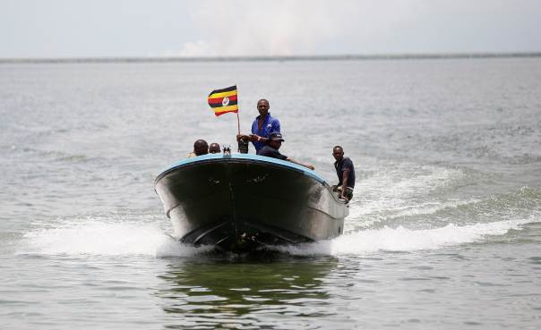 Marine police in Mukono are searching for five people after their boat capsized on Lake Victoria Monday April 1 (FILE PHOTO)