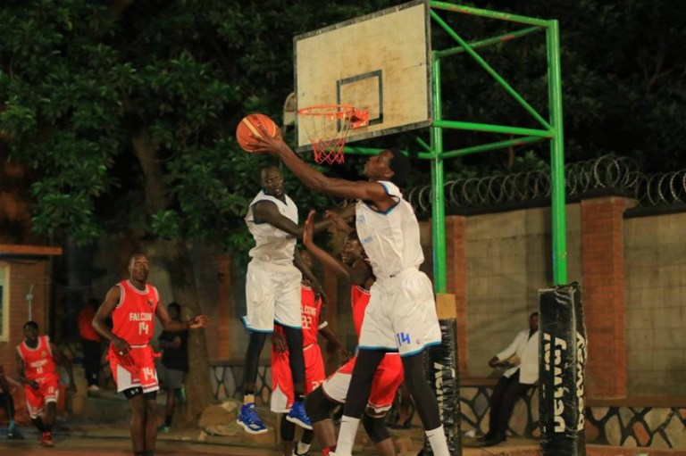 Godwin Muahamireho (14) pulls down a rebound. He picked game high 11