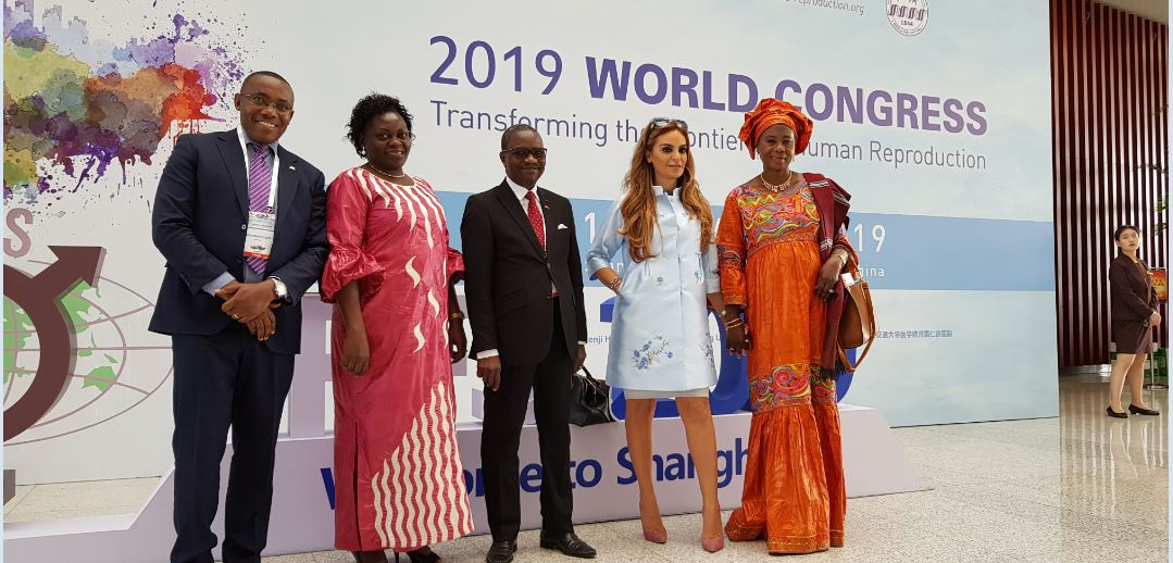 Dr. Rasha Kelej, CEO of Merck Foundation and President of Merck More Than a Mother with Minister of Health of Uganda, Hon. Sarah Opendi and the Vice President of The Gambia, H. E. Isatou Touray, Minister of Health of Burundi and Vice Minister of Republic of Congo. (PHOTO/COURTESY)