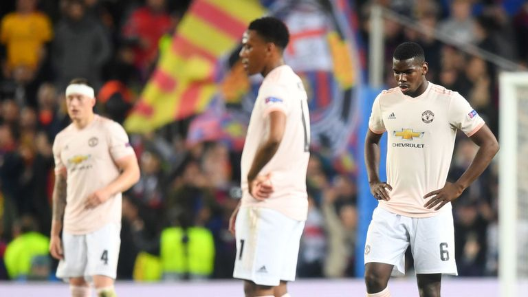 United lost 3-0 to Barcelona on Tuesday to exit the Champions League at the quarter final stage.
