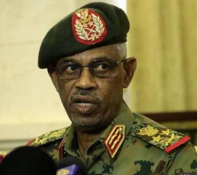 Sudan's millitary chief General Awad Ibn Ouf has resigned a day after taking oath.