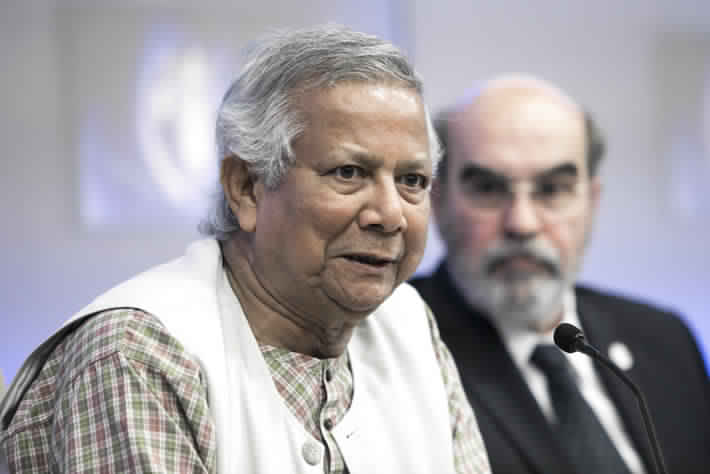 Professor Muhammad Yunus, from Bangladesh, won the Nobel Peace Prize in 2006, for his work to tackle poverty through micro-credit.