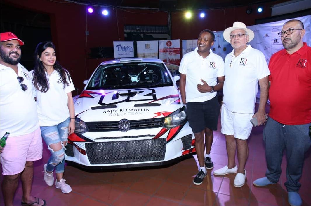 Rajiv and wife Naiya and his team of Mike Mwangi pose for a photo with his father and mentor, Sudhir Ruparelia and Dipu Ruparelia, who will be the Team Manager (PHOTO/Abraham Mutalyebwa)