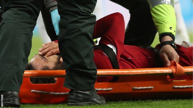 Salah collided with Newcastle goalkeeper Debravka on Saturday. (Agency Photos)