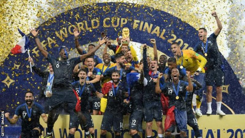 France won the 2018 World Cup in Russia.