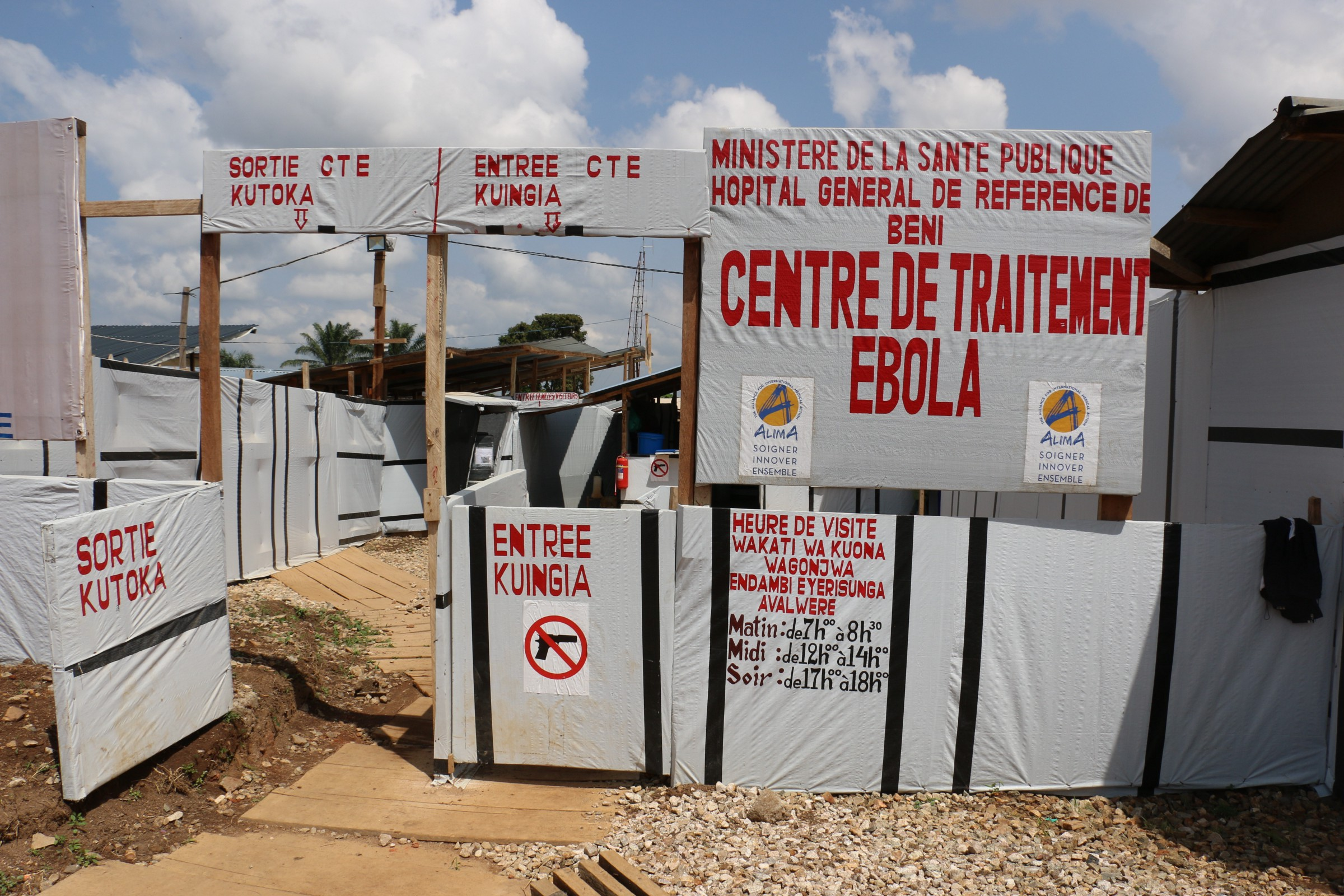 Congolese villagers have  burnt down Ebola treatment centers in Kasese. (PHOTO/File)