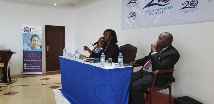 Ms. Julienne Mweheire, the Director for Directorate of Industry Affairs and Completion represented Executive Director Godfrey Mutabazi