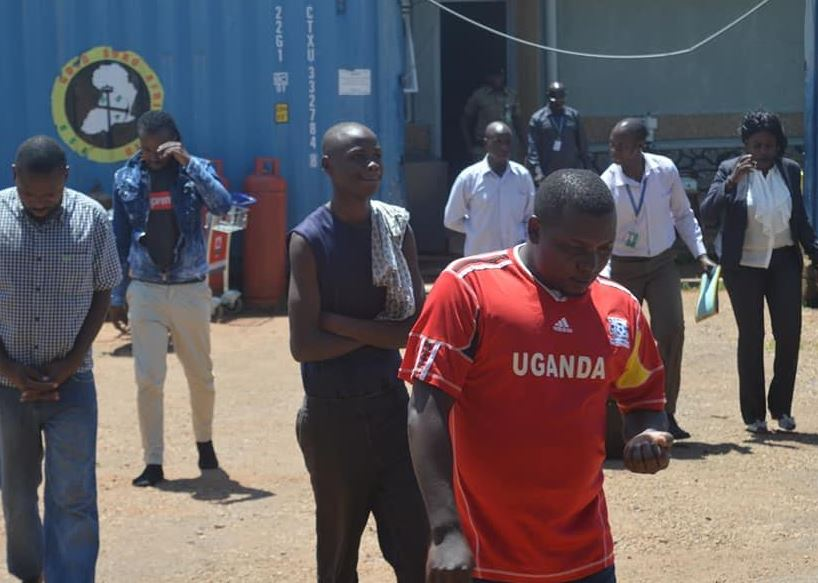 Seven suspected drug traffickers arrested at Entebbe Airport. (PML Daily PHOTO)