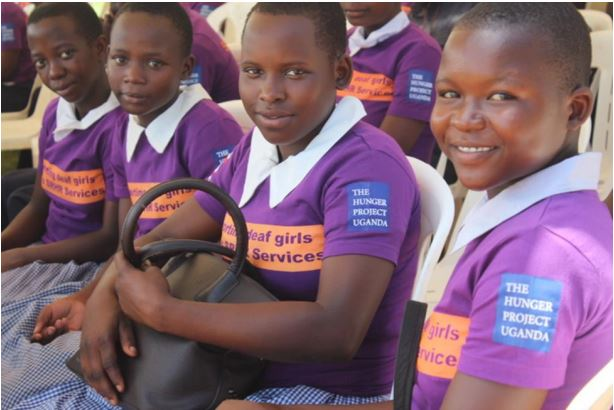 A section of the deaf girls at the launch of 'safe choices for the deaf girls project' in Mbale on May 8. (PHOTO/THP-U)
