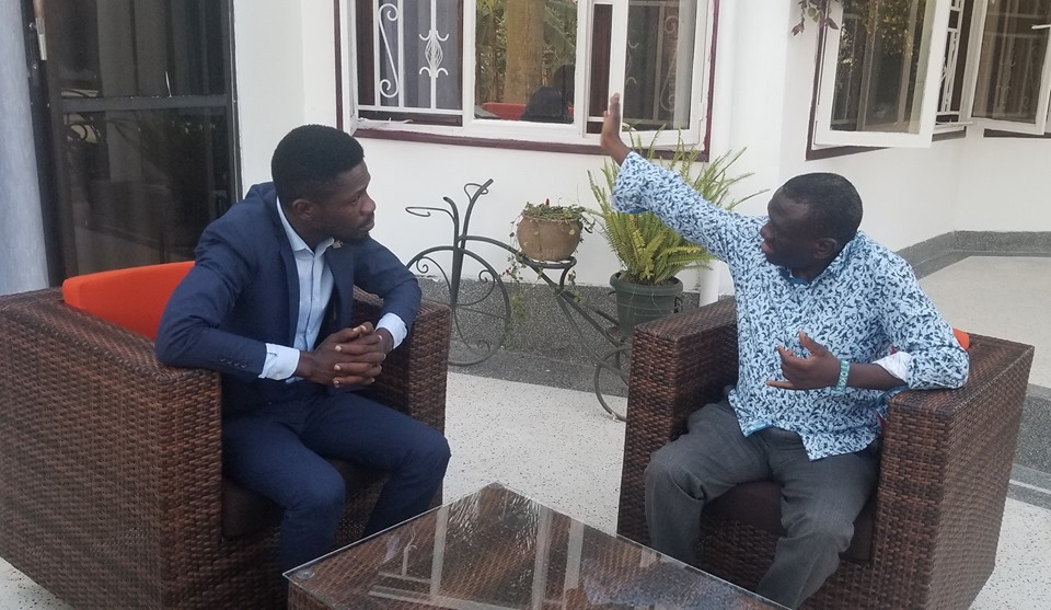 Bobi Wine and Dr. Kizza Besigye held talks at the legislator's residence and agree to one strategy according to reports.