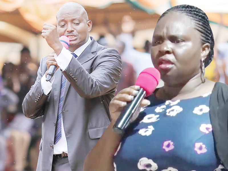 Pastor Aloysius Bugingo was on the spot by Human rights activists and the general public over his reactions that wife Teddy Naluswa has suffered a haemorrhage for 10 years. (PHOTO/File)