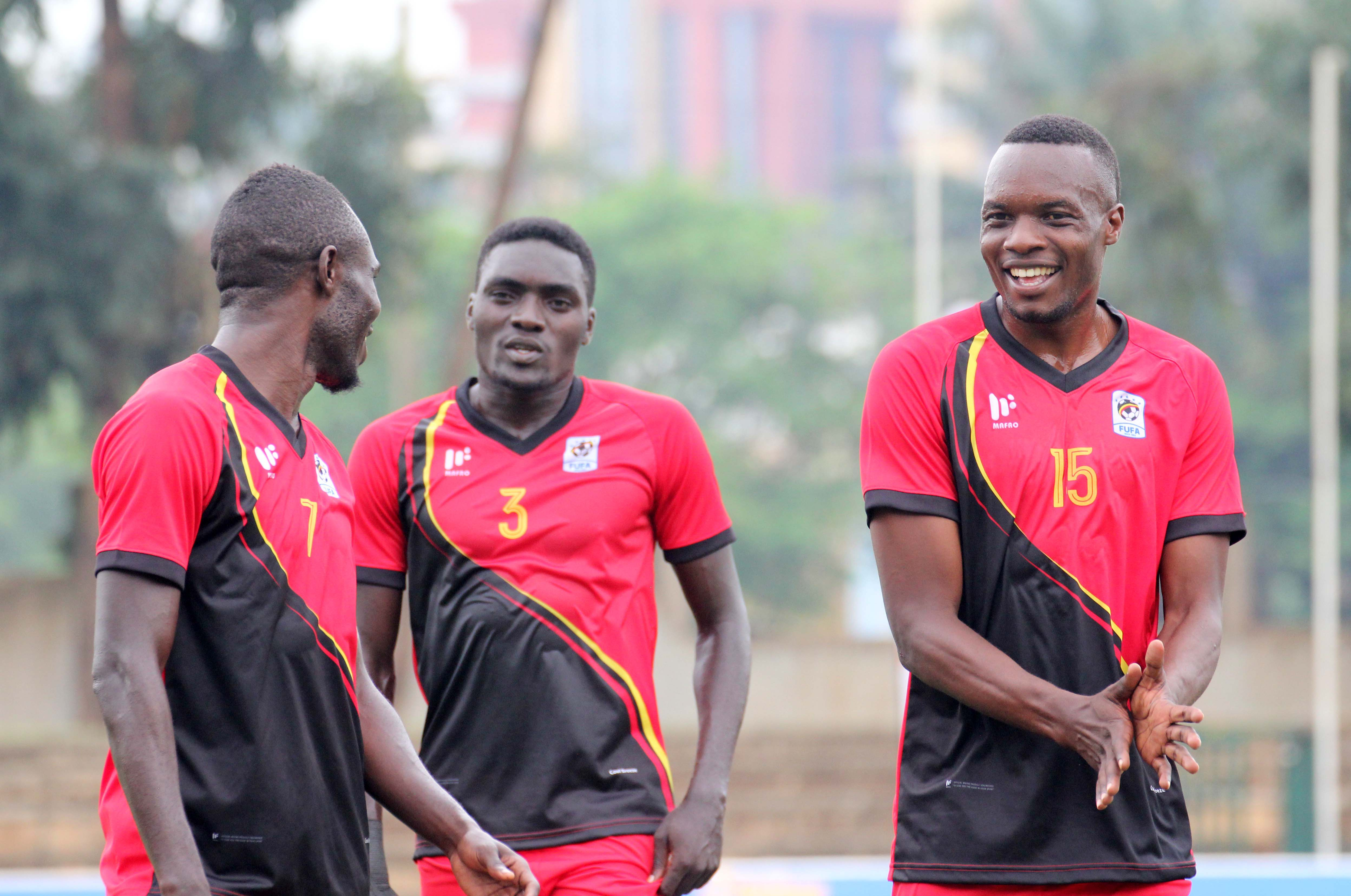 Awanyi (C) and Lwanga (R) are part of the 19 players that have been summoned. (FUFA Photo)