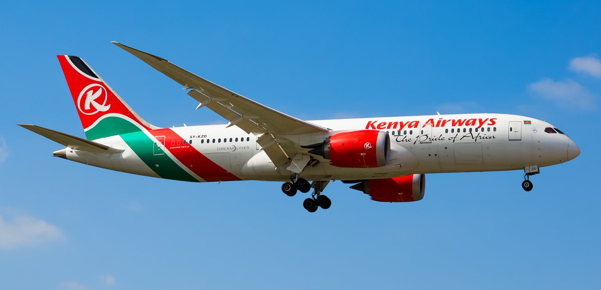 Kenya's national carried, KQ announces a loss but registers a growth in revenue. (NET PHOTO)