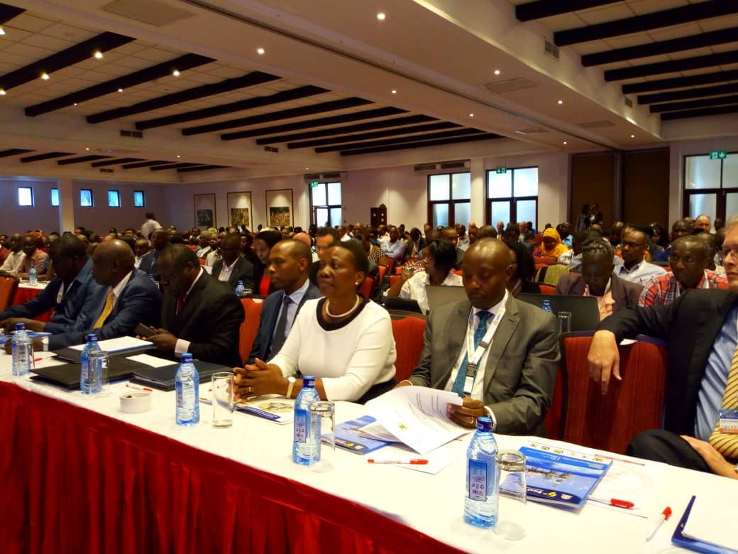 Uganda's delegation to the 9th East African Petroleum Conference and Exhibition (EAPCE) led by Hon. Irene Muloni at Pride Inn, Mombasa, Kenya.  (PHOTO/Courtesy)