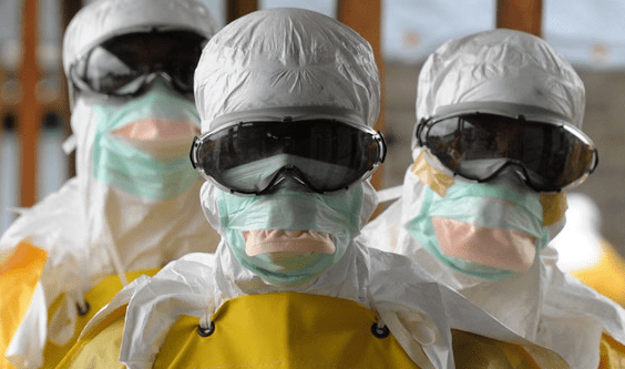 Medical personnel all geared up for an extraction of an Ebola patient. CSOs have slammed African Union for sidelining the fight against Ebola. (PHOTO/File)
