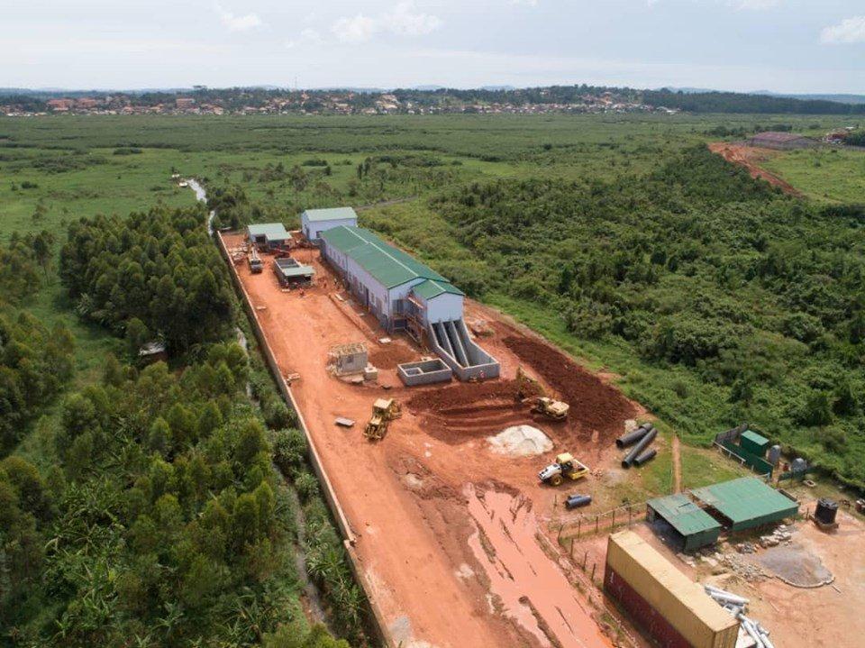 Kinawataka Sewage Pumping Station aimed at improving sanitation & health in the city and sorounfing areas. (PHOTO/NWSC)