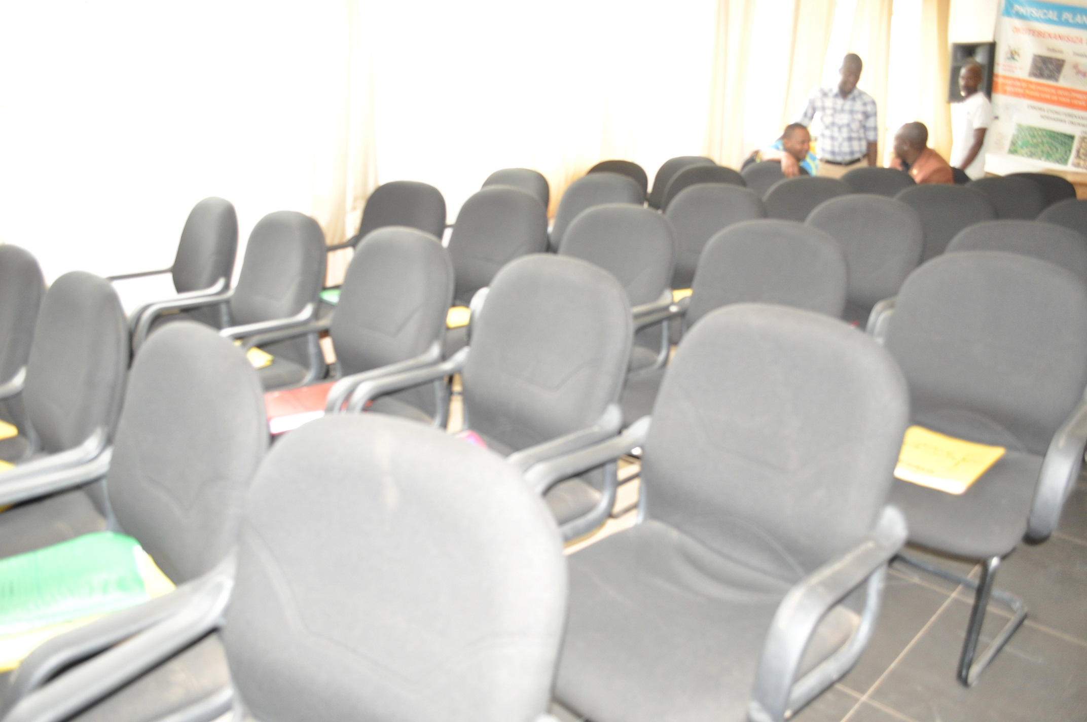 Empty seats in the Mbarara council hall (1)