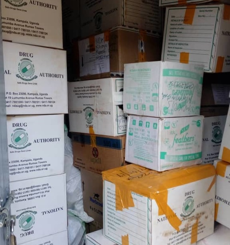 Part of the assorted veterinary medicines seized in the operation in Western Uganda(PHOTO/ Abraham)