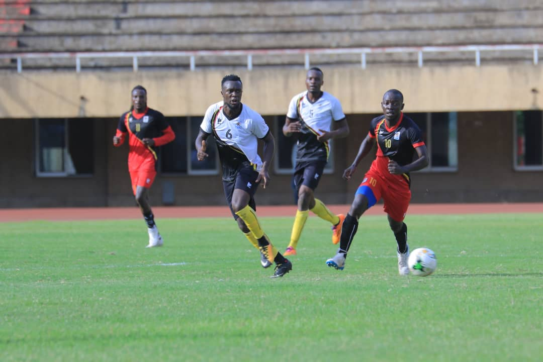 COSAFA bound Muzamir Mutyaba (10) in action against KCCA teammate Saddam Juma (8) who is part of the Cranes team preparing for the AFCON finals next month. (PHOTOS/AGENCIES)
