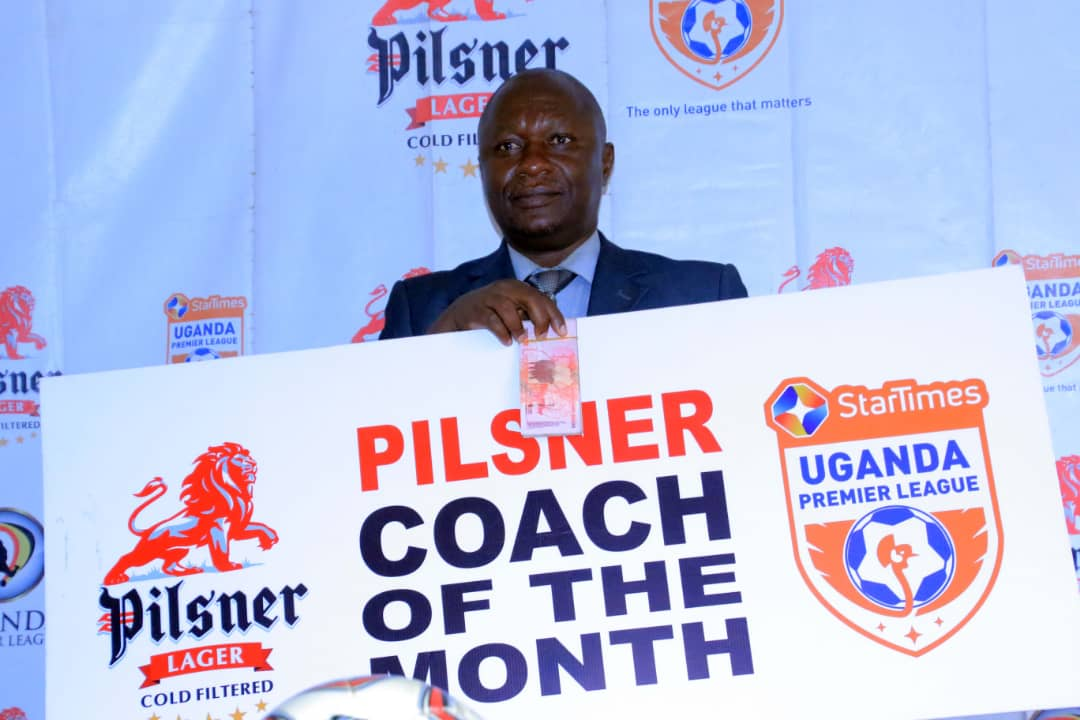Mutebi was named the April/May coach of the month. (PHOTOS/UPL)