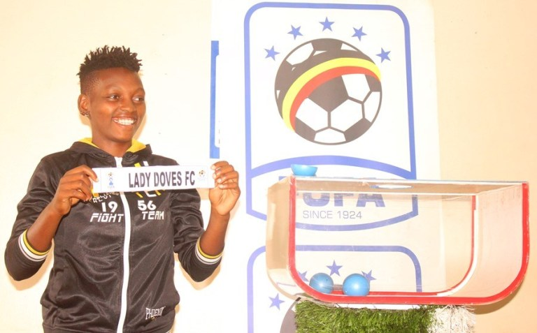 Lady Doves' captain Leticia Nabbosa during the Women's cup semifinal draw at FUFA House on Wednesday. (AGENCY PHOTOS)