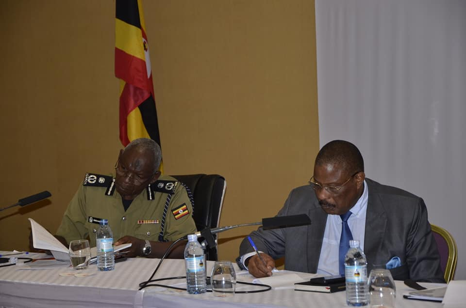 Med Kaggwa the Chairperson Uganda Human Rights Commission during the joint retreat at Munyonyo Speke Resort Hotel