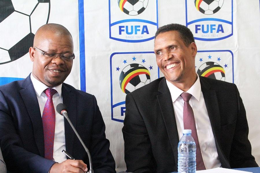 UEFA officials will meet FUFA President Eng. Moses Magogo (L) and CEO Edgar Watson. (Agency Photos)
