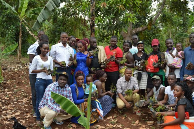 Some the youth at one of the tree planting campaign. (PHOTO/ Abraham)