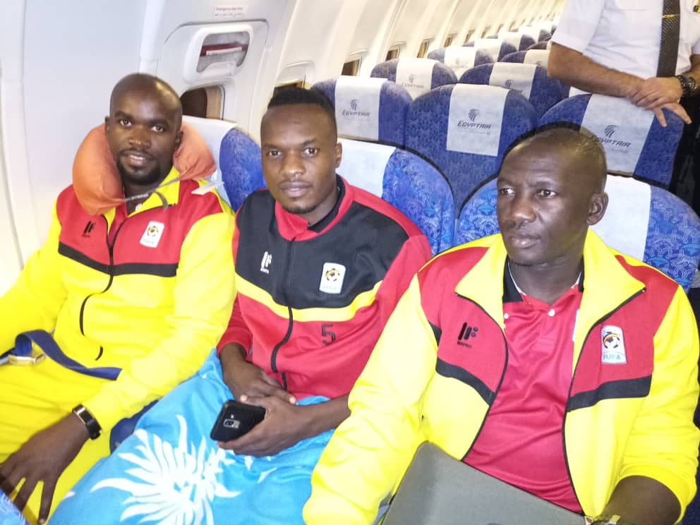 The Cranes set off for Abu Dhabi on Monday morning. (PHOTOS/FUFA).
