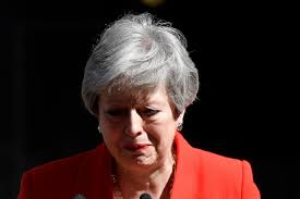 Emotional Theresa May, the Great Britain, Prime Minister has resigned. (PHOTO/Courtesy)
