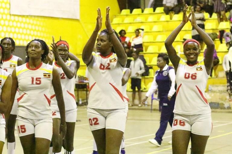 The She Cranes celebrate Tuesday's victory over Rwanda. (PHOTOS/AGENCIES)