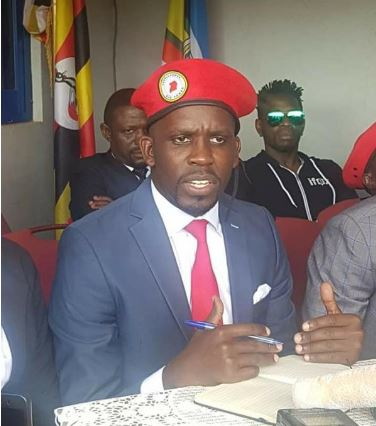 People Power media boss Joel Ssenyonyi addressing press recently in Kampala (PHOTO/File)