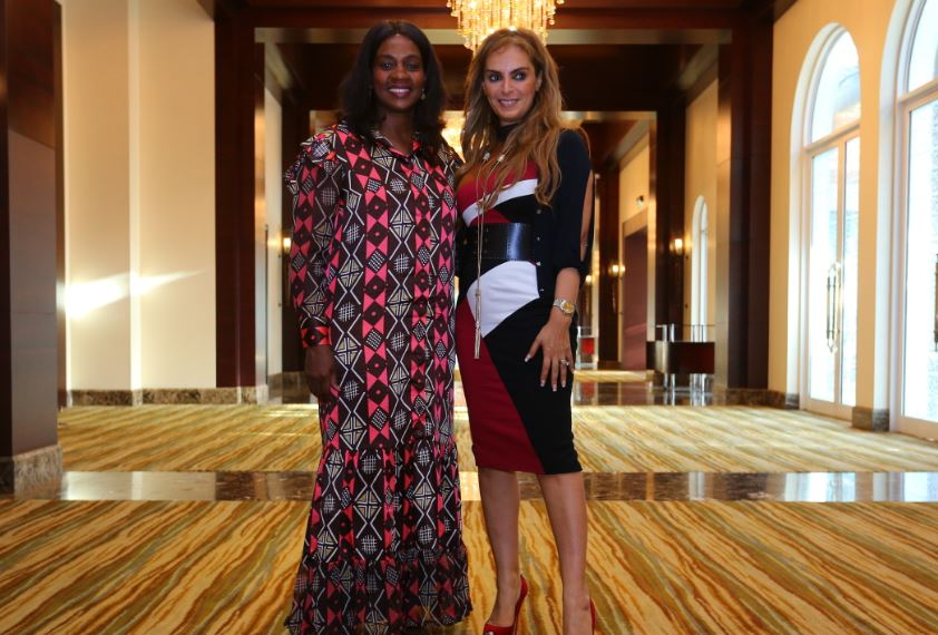 H.E. CLAR WEAH, The First Lady of Liberia and Ambassador of Merck More Than a Mother with Dr. Rasha Kelej, CEO of Merck Foundation and President, Merck More Than a Mother