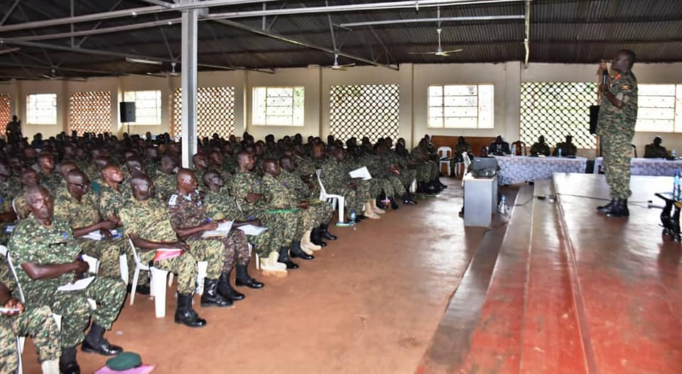 Gen Muhoozi applauded Rretirees for distinguished service. (PHOTO/PML Daily)