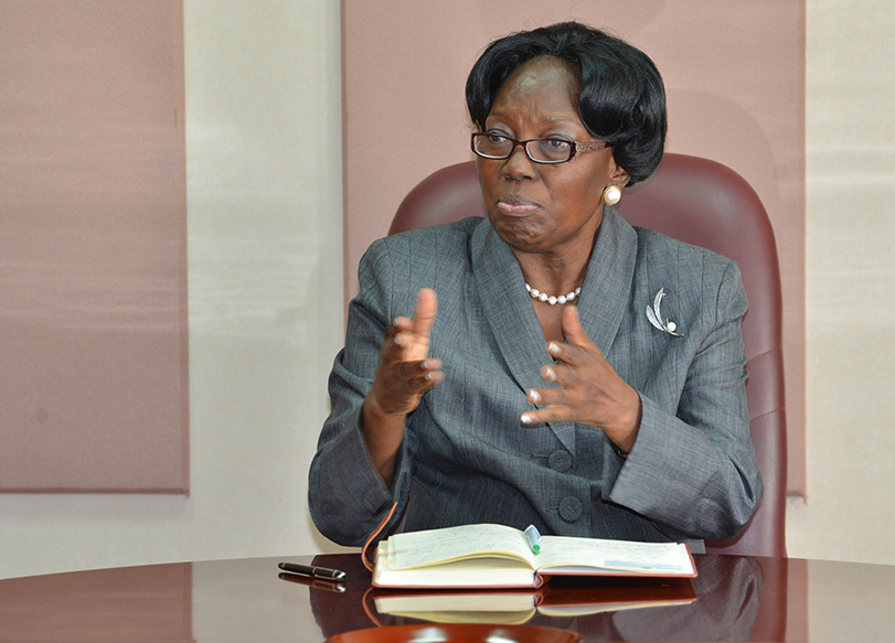 The Speaker of Parliament, Rebecca Kadaga.(PHOTO/File)