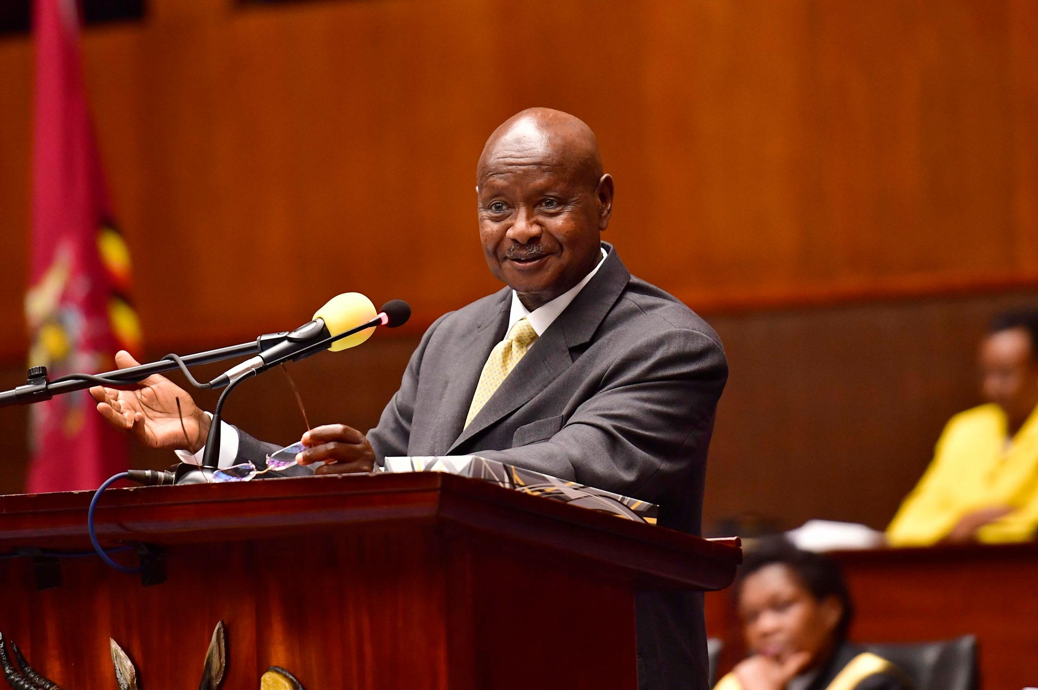 President Museveni has revealed government's plans to acquire two airbus planes in efforts to promote intercontinental flights. (PHOTO/PPU)