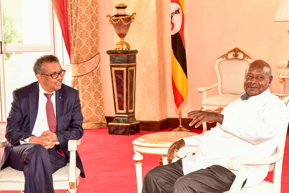 President Yoweri Museveni has on Monday 17 held talks with World Health Organization (WHO) Director General, Dr Tedros Adhanom