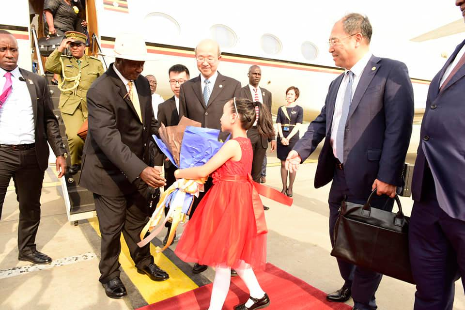 President Museveni on Friday 24 arrived in China. (PPU PHOTO)