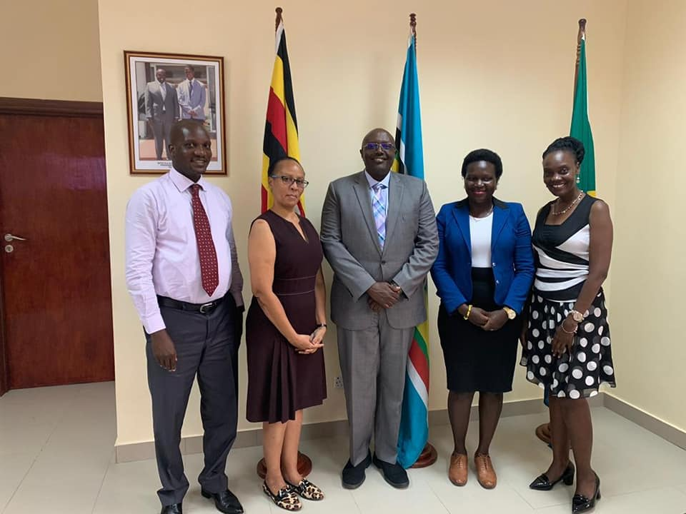 Officials from Uganda Airlines visited the Ugandan Embassy in Tanzania