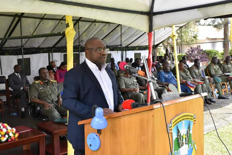 Minister of Defence and Veterans affairs Hon Adolf Mwesige