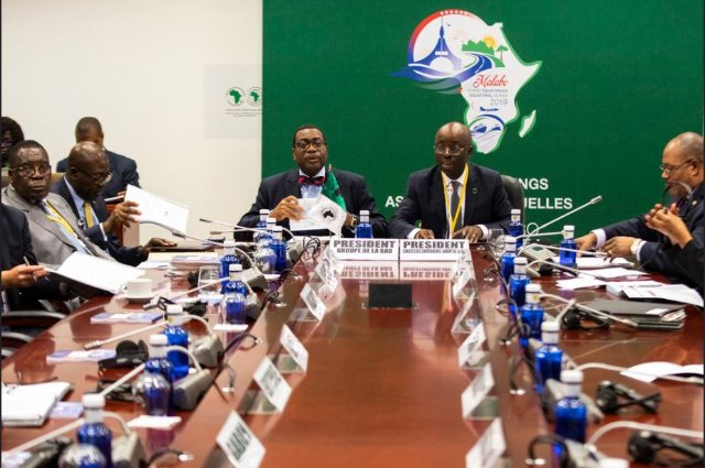 AfDB President Akinwumi Adesina takes part in the Meeting of the Bureau of the Board of Governors during day 1 of the AfDB Annual Meetings on 11 June 2019