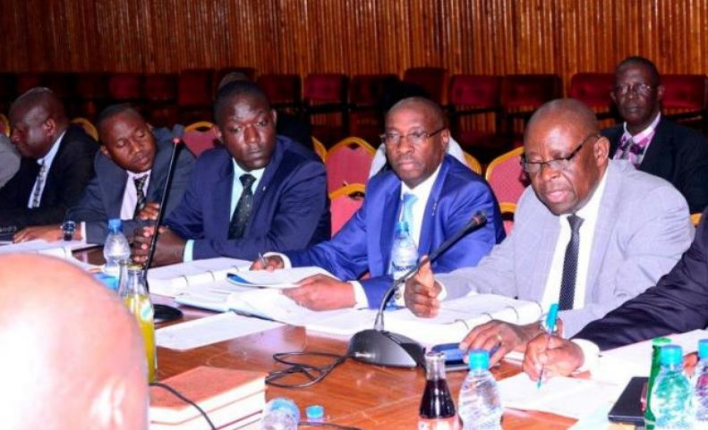 Officials of Civil Aviation Authority appear before a Parliamentary Commission. (PHOTO/File)