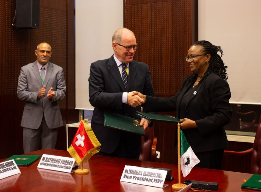 Raymund Furrer, Bank Governor for Switzerland, who signed on behalf of SECO at the Sipopo Conference Center in Malabo, Equatorial Guinea.